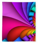 Fractalized Colors -2- Fleece Blanket