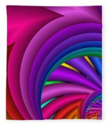Fractalized Colors -3- Fleece Blanket
