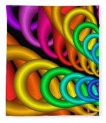 Fractalized Colors -5- Fleece Blanket