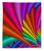Fractalized Colors -7- Fleece Blanket