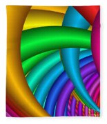 Fractalized Colors -9- Fleece Blanket