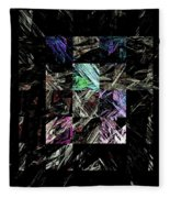 Fractured Fractals Fleece Blanket