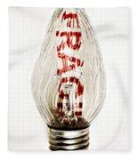 Fragile Light Bulb Fleece Blanket