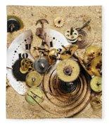 Fragmented Clockwork In The Sand Fleece Blanket