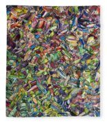 Fragmented Spring Fleece Blanket