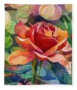Fragrant Roses Fleece Blanket