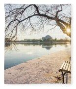 Framed Jefferson Fleece Blanket