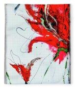 Framed Scribbles And Splatters On Canvas Wrap Fleece Blanket