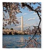 Framed With Blossoms Fleece Blanket