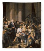 France: Bread Riot, 1793 Fleece Blanket