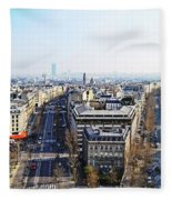 France Montmartre Paris Fleece Blanket