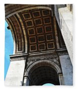 France Triumph Monument Fleece Blanket