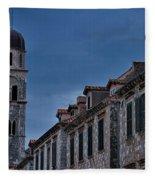 Franciscan Monastery Tower - Dubrovnik Fleece Blanket