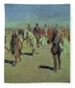Francisco Vasquez De Coronado Making His Way Across New Mexico Fleece Blanket