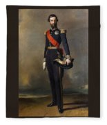 Francois-ferdinand-philippe Dorleans Prince De Joinville Franz Xavier Winterhalter Fleece Blanket