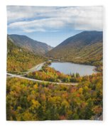 Franconia Notch Autumn View Fleece Blanket