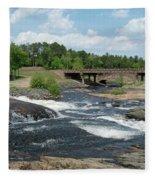 Frank J Russel Falls 1 Fleece Blanket
