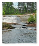 Frank J Russel Falls 2 Fleece Blanket