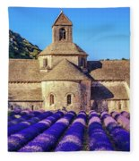 All Purple, Cistercian Abbey Of Notre Dame Of Senanque, France  Fleece Blanket