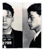 Frank Sinatra Mug Shot Horizontal Fleece Blanket