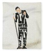 Frank Sinatra Typography Art Fleece Blanket