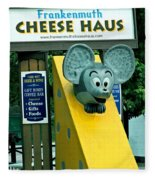 Frankenmuth Cheese Haus Mouse  Fleece Blanket