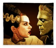Frankenstein And The Bride I Have Love In Me The Likes Of Which You Can Scarcely Imagine 20170407 Fleece Blanket