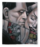 Frankenstein And Wife  Fleece Blanket