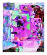 Frankenstein In Abstract Cubism 20170407 Square Fleece Blanket