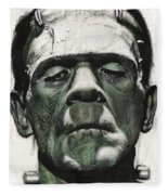 Frankenstein Portrait Fleece Blanket