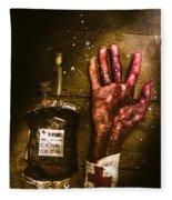 Frankenstein Transplant Experiment Fleece Blanket