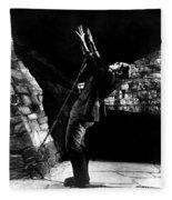Frankensteins Monster Chained The Castle Played By Boris Karloff Fleece Blanket