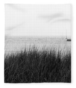 Frankfort North Breakwater Lighthouse Michigan Fleece Blanket