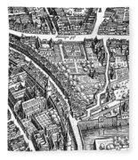 Frankfurt Am Main, 1628 Fleece Blanket