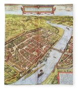 Frankfurt, Germany, 1572 Fleece Blanket