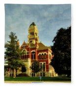 Franklin County Courthouse - Hampton Iowa Fleece Blanket