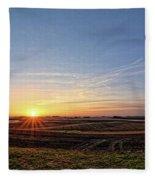Franklin County Iowa Fleece Blanket
