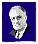 Franklin D. Roosevelt Grayscale Pop Art Fleece Blanket