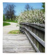 Franklin Park Conservatory Footbridge Fleece Blanket