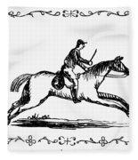 Franklin: Post Rider, 1775 Fleece Blanket