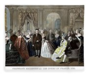 Franklin's Reception At The Court Of France Fleece Blanket
