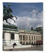 Franz Joseph Equestrian Statue Fleece Blanket