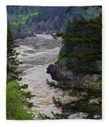 Fraser River British Columbia Fleece Blanket