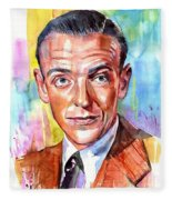 Fred Astaire Painting Fleece Blanket