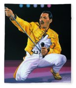 Freddie Mercury Live Fleece Blanket