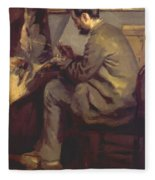 Frederic Bazille Painting The Heron 1867 Fleece Blanket