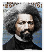 Frederick Douglass And Emancipation Proclamation Painting In Color  Fleece Blanket