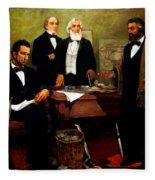 Frederick Douglass Appealing To President Lincoln Fleece Blanket