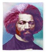 Frederick Douglass Painting In Color Pop Art Fleece Blanket