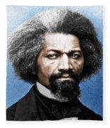 Frederick Douglass Painting In Color  Fleece Blanket